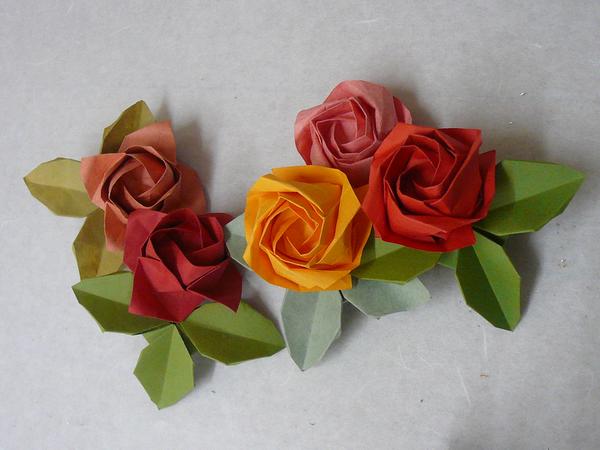 すべての折り紙 折り紙 リース 立体 : 2011年5月26日 (木) クラフト 一般 ...